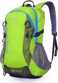 Mochila de Senderismo Mochila de nylon de alta capacidad para el alpinismo de viaje Senderismo Campamento Multifunción Adecuado para deportes al aire libre Macutos de Senderismo ( Color : Green )