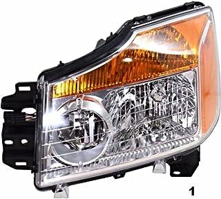 Fits 04-12 Chevy Colorado /& 04-12 GMC Canyon L/&R Headlamp Assys w//black bezel p