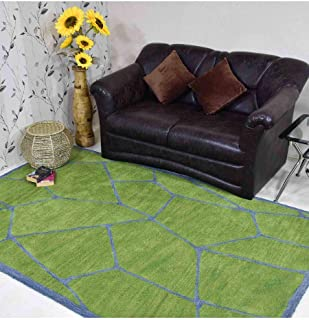 Turtle Shell Giraffe Hand Tufted Wool Carpet Animal Print Area Rug 9x12