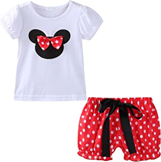 Little Girls Clothes Sets Cute Outfits Polka Dot