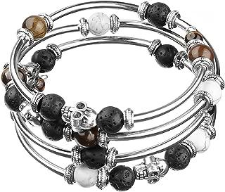 EverReena Vintage Style Love Heart Silver Beads Bracelets