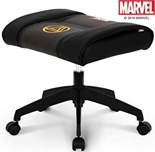 NEO CHAIR Licensed Marvel Multi-Use Stool w/Wheel 1 Year Warranty : Video Game Stool Gaming Chair Stool Footstool Simple Chair Footrest Meeting Chair Swivel Height Adjustable (Iron Man Black)