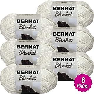 Bernat 99324 Blanket Yarn-6/Pk-Vintage, 6/Pk, Vintage White 6 Pack