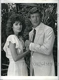 Historic Images 1986 Press Photo Cynthia Sikes Actress Frank Converse Actor Magnum P.I. TV Show