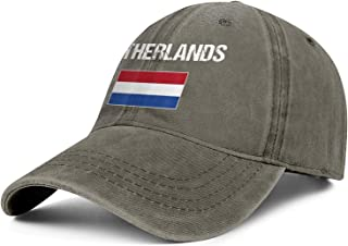 TYUING Netherlands Flag National Dutch Snapback Baseball Hats Adjustable Fits Ball Caps Adult
