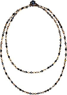 AeraVida Midnight Champagne Mixed Fashion Crystal Beads Multi-Wear Necklace or Bracelet