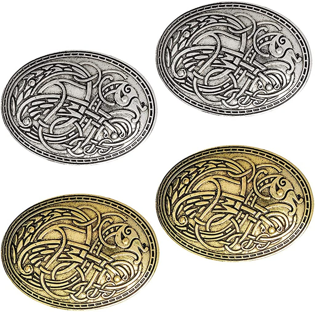 Limited time trial price Ranking TOP12 Abbraccia 4 Medieval Viking Brooches Cloak Shawl Pins Broo Scarf