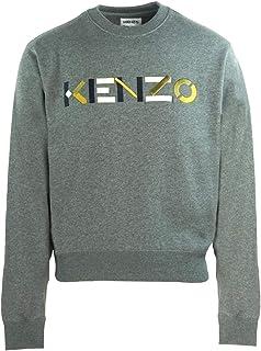 Kenzo Mens Multicolour Logo Grey Jumper