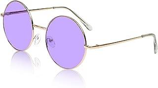 Sunny Pro Big Round Sunglasses Retro Circle Tinted Lens Glasses UV400 Protection