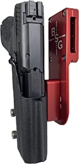 Black Scorpion Outdoor Gear Professional Heavy Duty Competition Holster OWB Kydex fits Smith & Wesson M&P 9, M&P 40 IPSC, USPSA, 3-Gun Approved, Adjustable in All Angles and Retention