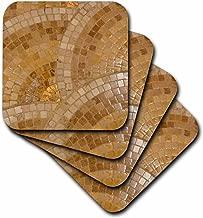 3dRose LLC Scallop Copper Like Coaster, Soft, Set of 8
