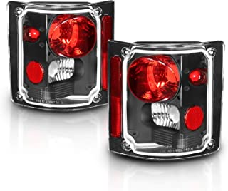 AmeriLite Black Replacement Brake Tail Lights Housing Set for Chevy/GMC Full Size - Passenger and Driver Side