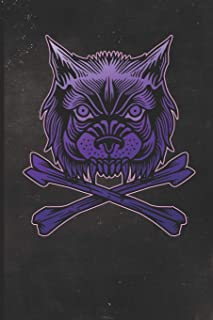 Journal: Purple Wolf Tattoo Design Dot Grid Tattoo Flash Sketching Journal