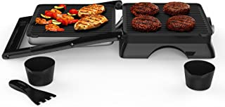 Chef Buddy 82-SW73 Panini Press Indoor Grill and Gourmet Sandwich Maker, Electric with Nonstick Plates, 12.75