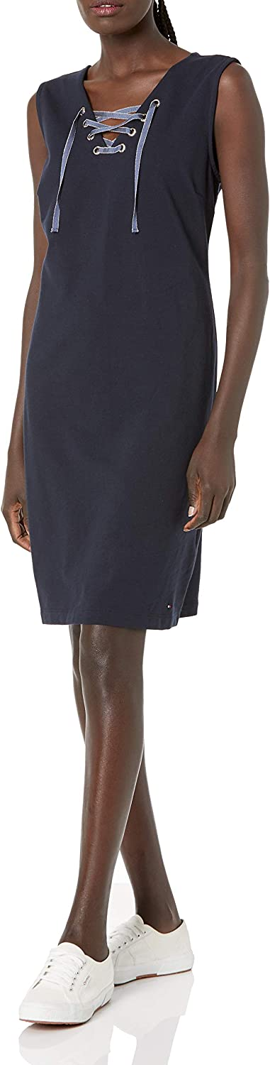 Tommy Hilfiger Women's Sleeveless Laceup Front Dress