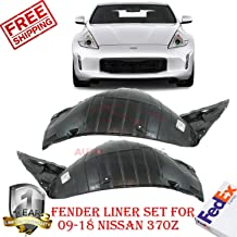 Front Fender Liner for 2009-2018 Nissan 370z Touring Sport Base Sport Tech Front Section Left Hand Side & Right Hand Side OE Replacement Set of 2 638451EA0A 638441EA0A