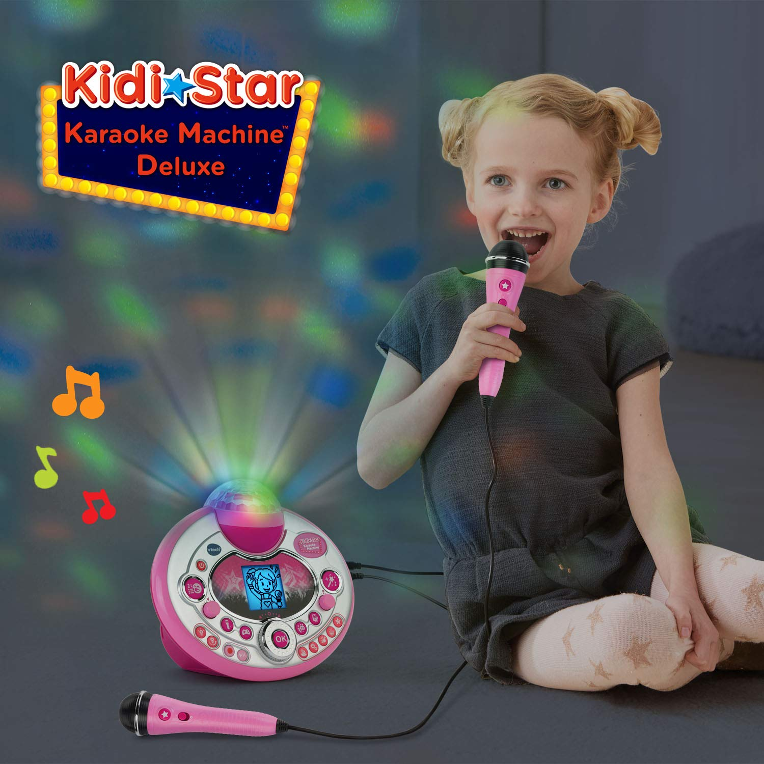 Plastic Glitter Microphone Rock Star Karaoke Microphone 27 cm Long for Kids