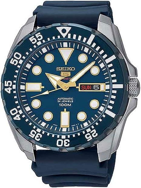 Seiko orologio analogico automatico uomo con cinturino in silicone srp605k2