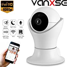 Vanxse CCTV 2.0MP 1080P IR Night Vision WiFi Wireless Pan/Tilt Network IP Camera Webcam Remote View for Home Security and Surveillance(DLS002)