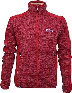 Fleece Jacke in Grau// Schwarz Melange von PLAYSHOES 420101 Trendstarke Strick