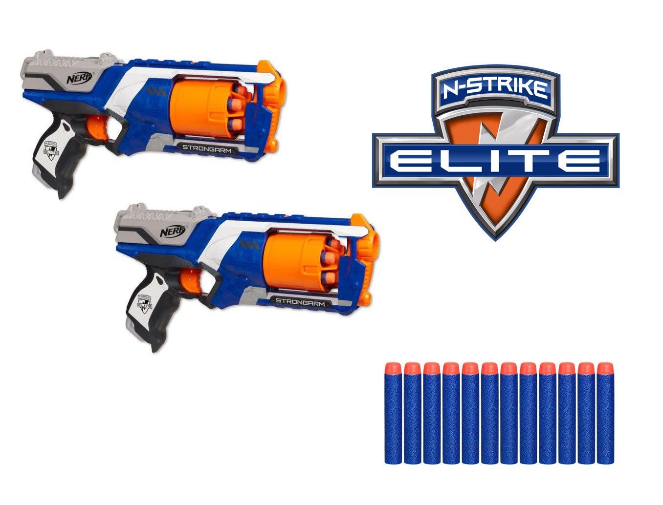 Nerf N-Strike Elite Disruptor, Pack de 2 Pistolas con Capacidad de ...
