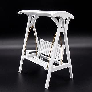 Odoria 1:12 Miniature Wooden Garden Porch Swing Chair Dollhouse Furniture Accessories