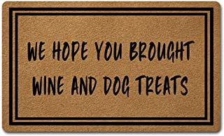 """Welcome Mat with Non-Slip Rubber Back(18"""" x 30"""")Funny Doormat for Entrance Way Personalized Monogram Home Decor Mats for F..."""
