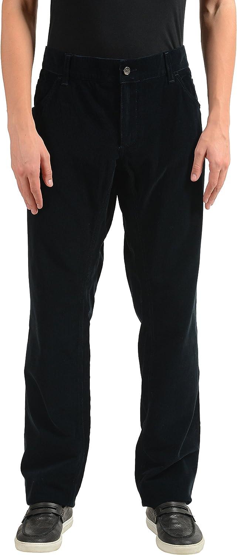 Dolce & Gabbana Men's Black Corduroy Casual Pants US 42 IT 58