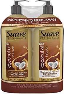 Product of Suave Professionals Coconut Oil Infusion Damage Repair Shampoo, 40 oz. and Conditioner, 40 oz. - Hair Treatment...