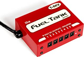 T-Rex Engineering FUELTANK-JUNIOR Guitar Effects Pedal Power Supply with (5) 9V Outputs and a Built-In Voltage Selector for Worldwide Use (10331)