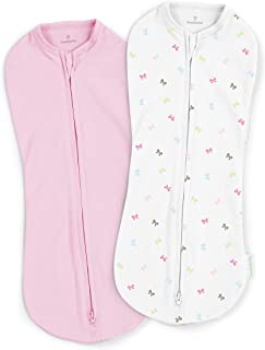 SwaddleMe Pod – Newborn Size, 0-2 Months, 2-Pack (Baby Bows)