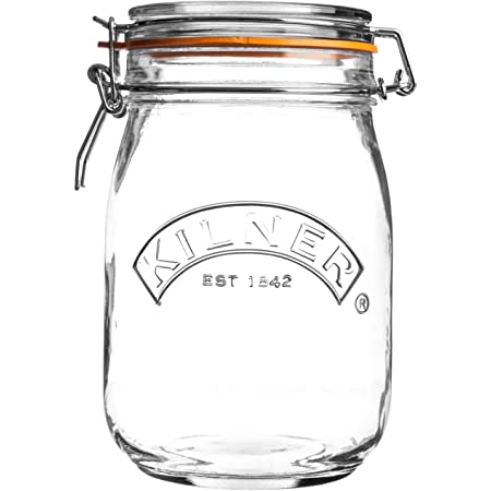 Kilner Round Clip Top Jar, 34-Fl Oz, 1 L