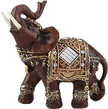 Feng Shui olifant dierenfiguren, tarwe van hout geluksbrengers symbool olifant beeld voor kantoor decoratie thuis decorati...