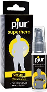 pjur superhjälte-fördröjningsserum – fördröjningsgel för män – minskar peniskänsligheten utan att bedöva – 1 paket (1 x 20