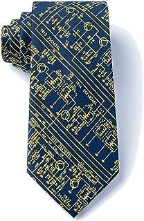 Men's Hipster Transistor Radio Schematics Retro XL Extra Long Tie Necktie