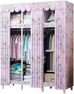 ZZYE Penderie Tissu Armoire de Garde-Robe, Armoire Rangement Organisateur Armoire Vêtements de vêtements Stabilité Rapide ...