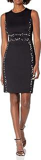 Women's Sleeveless Colorblock Sheath Dress