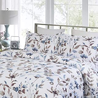 Vaulia Lightweight Microfiber Duvet Cover Set, Print Pattern Branches and Floral, King Size