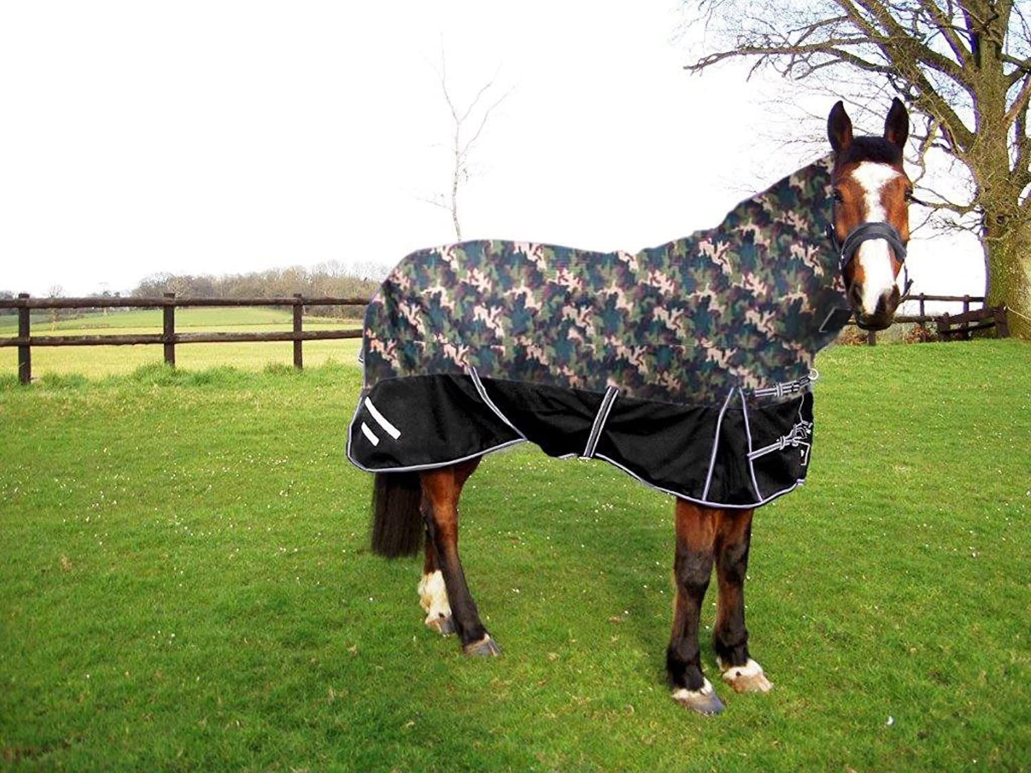 GEE TAC 350G1200D HEAVY DUTY TURNOUT COMBO HORSE RUG 6.3 ALL SIZES, EQUESTRIAN