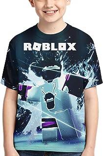 Maichenxuan - Camiseta para niños y niñas, diseño gráfico en 3D, diseño de dibujos animados Ro-Bl-ox