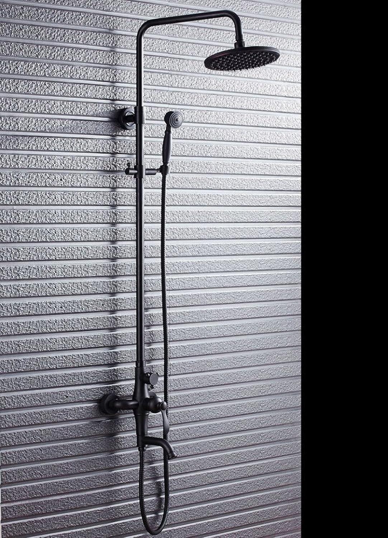 SHUAI Bathroom Equipment SHUAI Shower Set Black Black Bronze Shower Set Toilet Shower