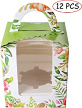 Individual Cupcake Carrier Bakery Boxes Cupcake Boxes Cupcake Holder Containers with Window and Handle