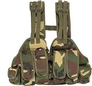 Lixada Arm/ée Tactique Vest Gilet Respirant Multifonctionnel de Formation de Gilet de Protection de Champ CS Champ Swat Tactical Army Vest /à D/émontage Rapide
