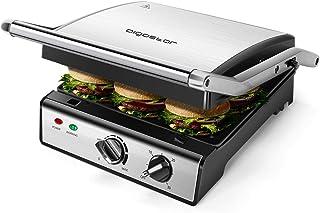 Aigostar Max 30 HIX - Grill, appareil à paninis et sandwichs avec plaques amovibles de grande taille (29 x 24cm). 2000W, o...