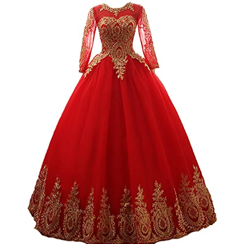 Red And Gold Prom Dresses Ball Gown Amazon Com