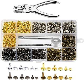 Conjunto de 100 X 12mm Doble Cap Remaches y Ajuste de Herramienta de mano artesanías de cuero con remaches