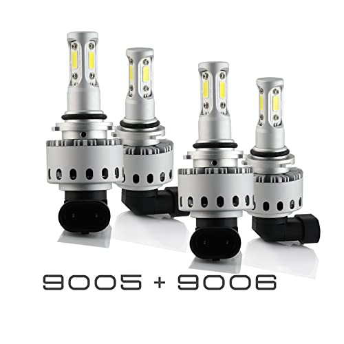 Syneticusa 9005+9006 Combo LED High/Low Beam Headlight Conversion Kit Light Bulbs 200W