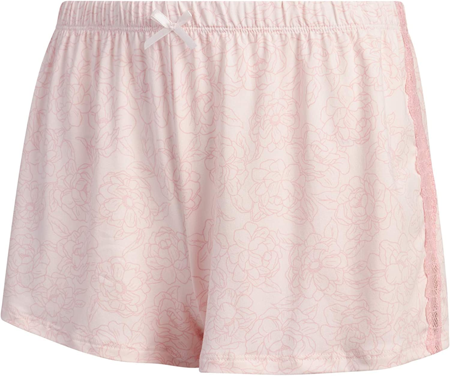 Marilyn Monroe Women's Sleepwear - 2-Piece Micro Shorts and Cami with Lace Trim Pajama Short Set