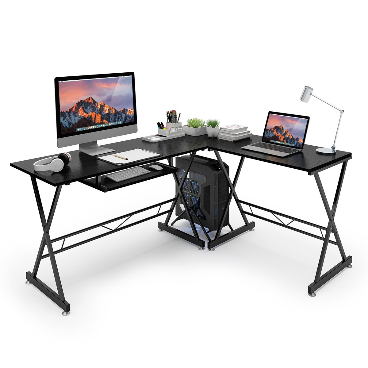 computer gaming desk amazon co uk rh amazon co uk white corner gaming desk corner gaming desk amazon