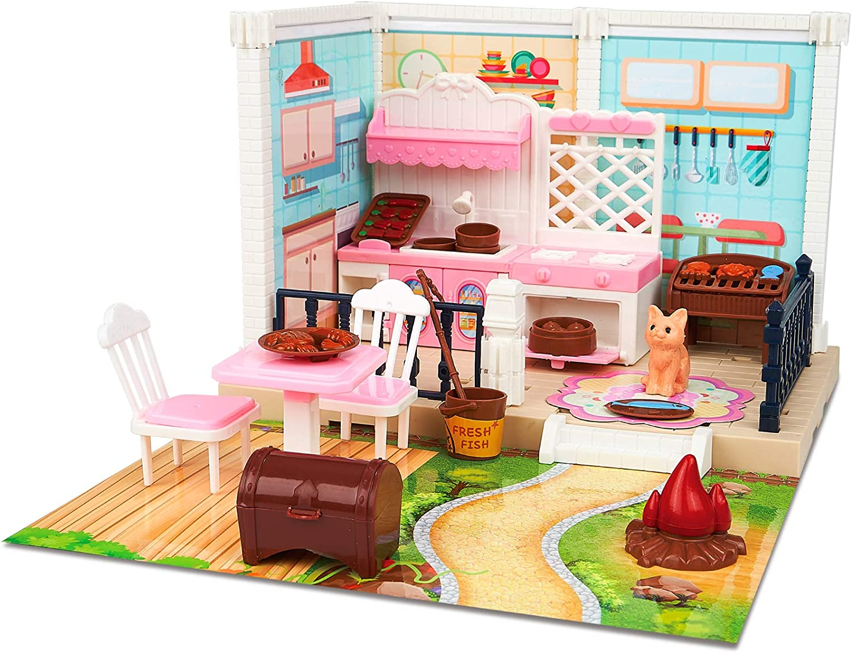 Yalanqisi low-pricing DIY Miniature Dollhouse Kits Kitchen Ba with Choice